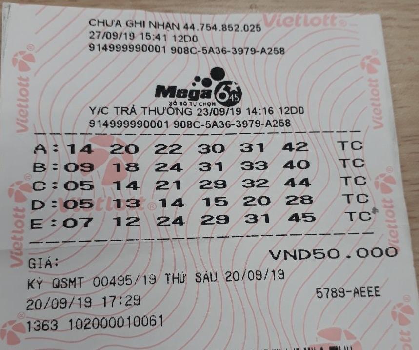 Tấm vé may mắn