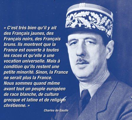 De Gaulle France race blanche antiracisme de droite