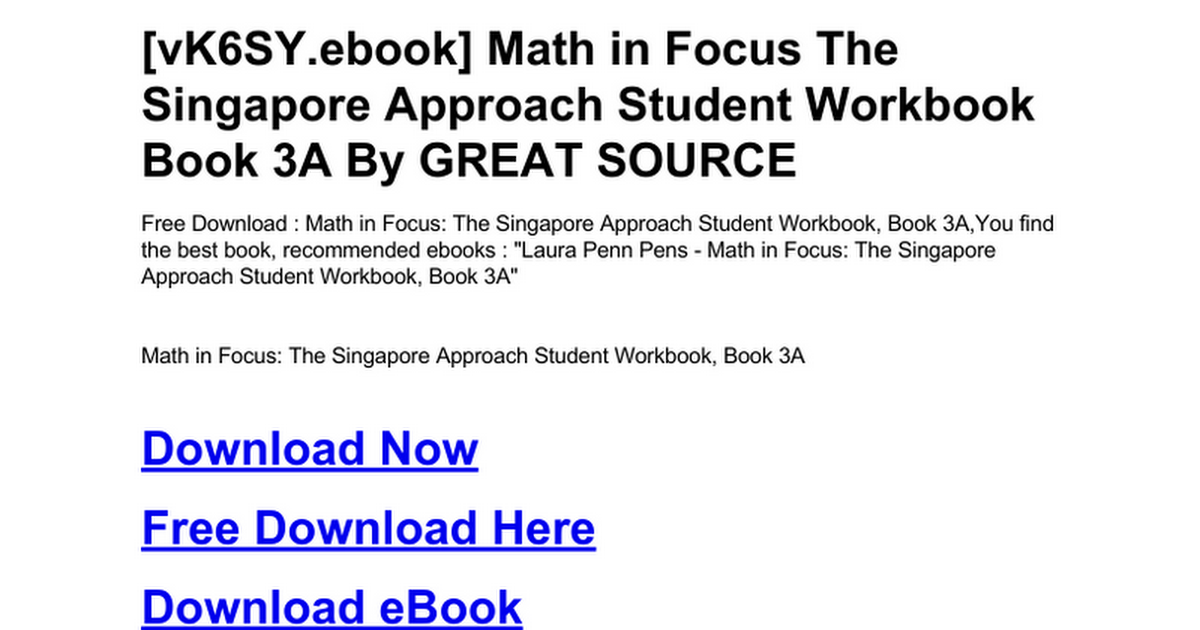 math-in-focus-the-singapore-approach-student-workbook-book