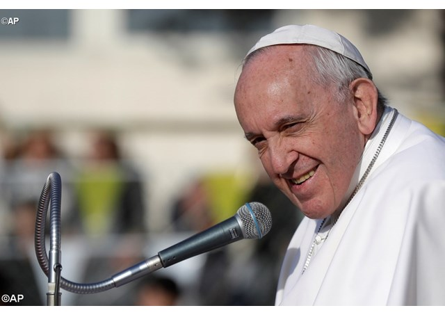 Pope Francis sent a message to the Food and Agriculture Organization of the United Nations - AP