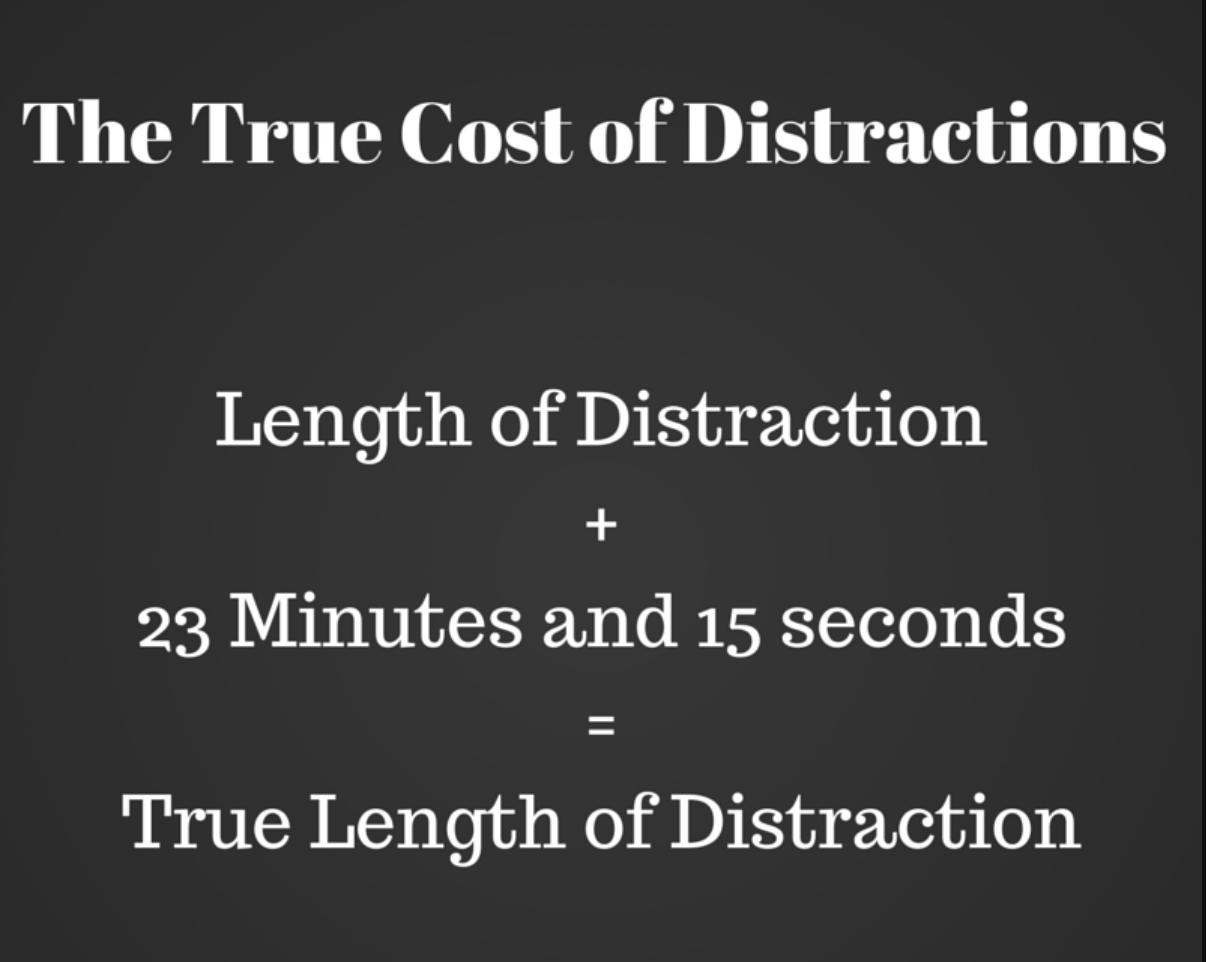 il costo delle distrazioni