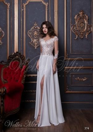 Ассиметричный подол свадебного платья