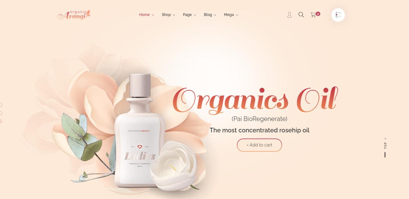 Arangi - Shopify beauty theme