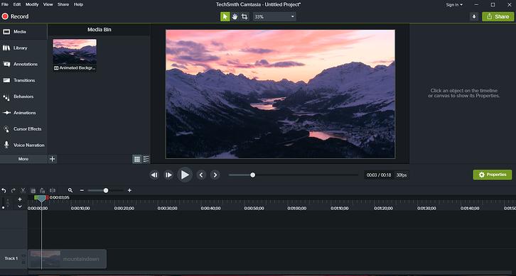 Camtasia editing interface screenshot