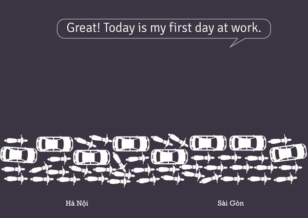 Thú vị bộ ảnh so sánh vui sự khác nhau giữa Hà Nội và Sài Gòn 10