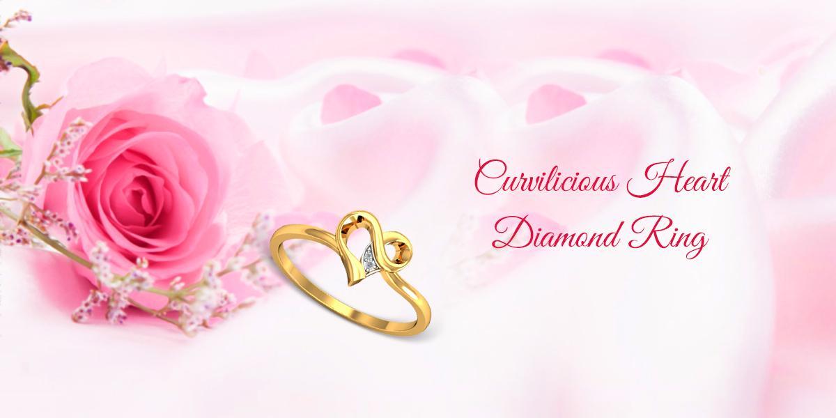 curvilicious heart shaped diamond ring