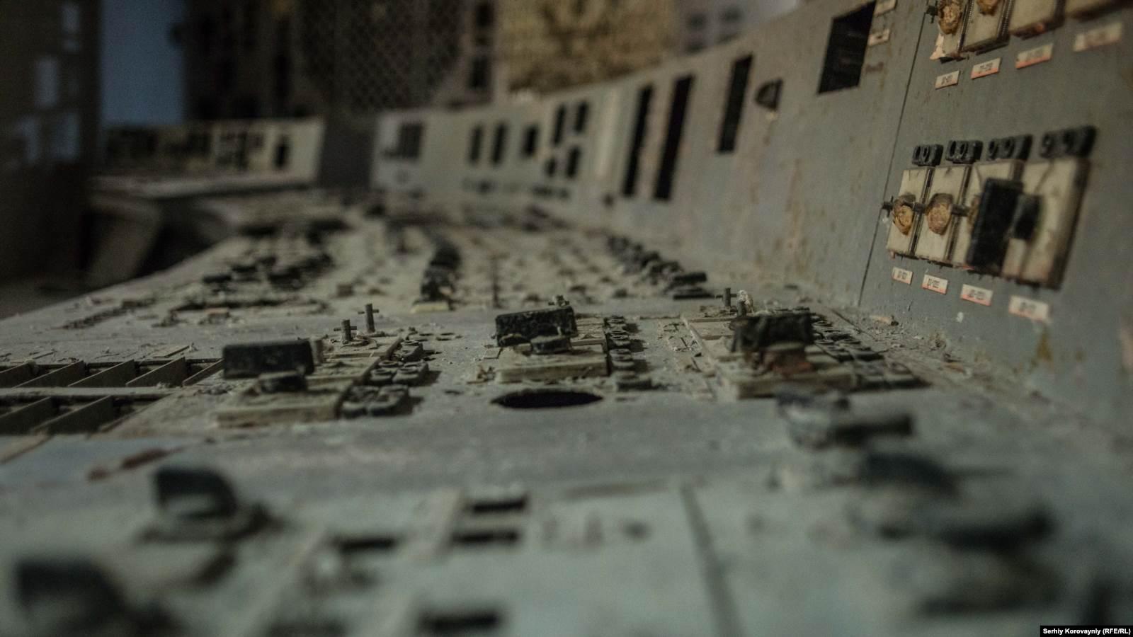 Панель управления четвертым энергоблоком Чернобыльской АÐÐ¡