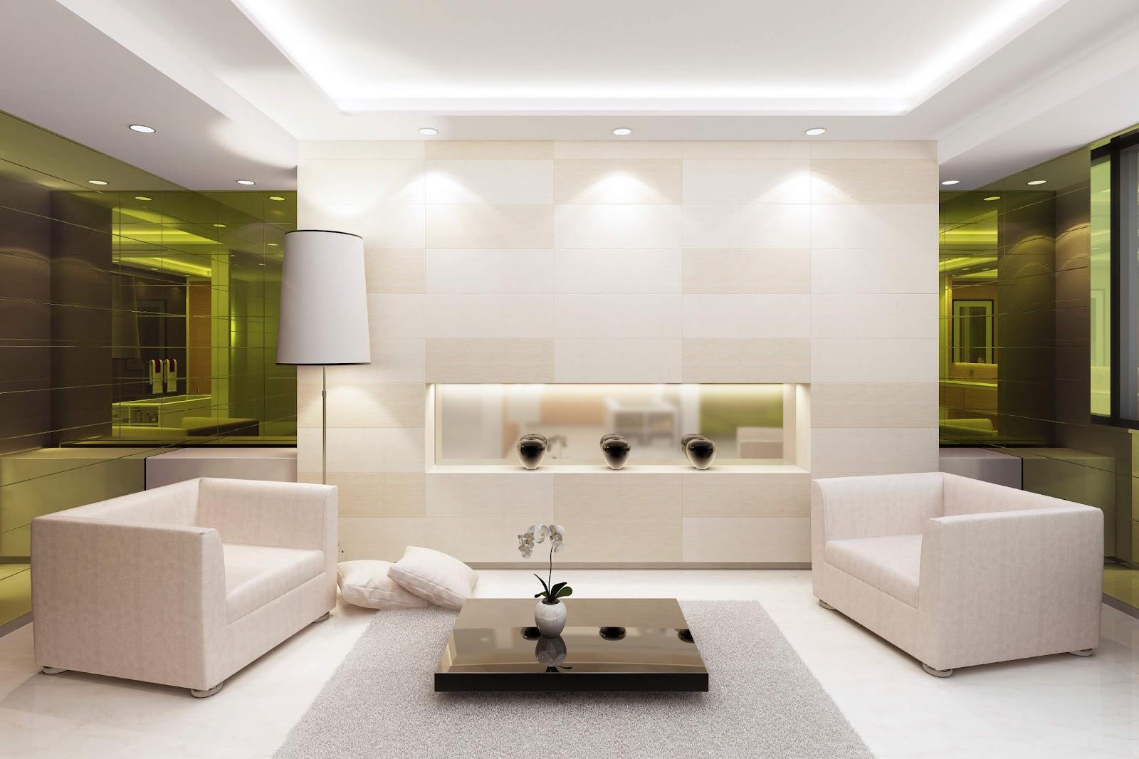 Inspirasi penggunaan dua jenis lampu aksen, yaitu lampu sorot dan cove lighting - source: homestratosphere.com