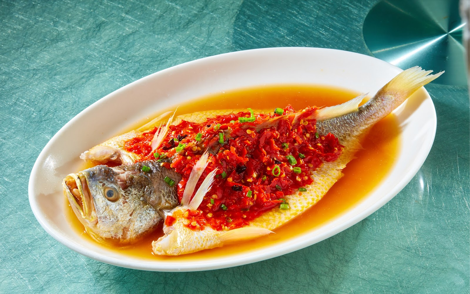 Yellow Croaker in Chopped Chillies