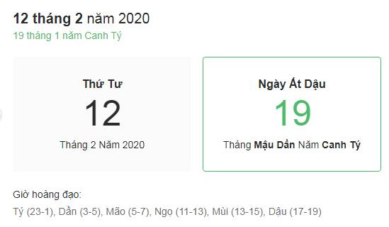 Dự đoán kết quả xsmb ngày 12/02/2020 theo phong thủy