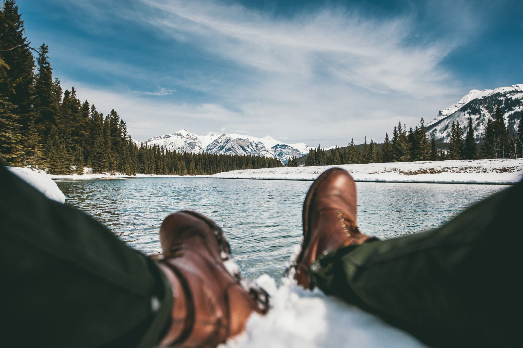 Ice fishing and wading