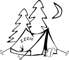 Image result for camping clipart black and white public domain