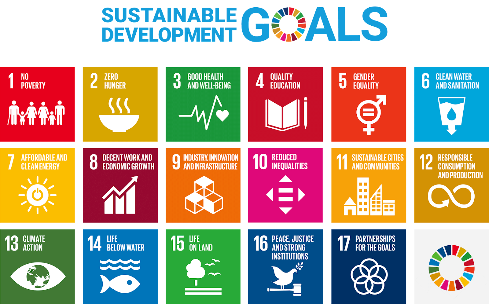 The 17 Sustainable Development Goals (SDGs)