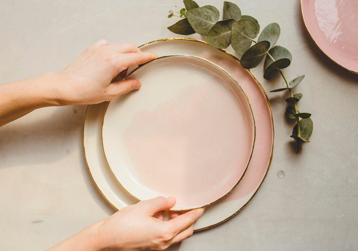 Ceramic dinner plates from SinD Studio, from $38