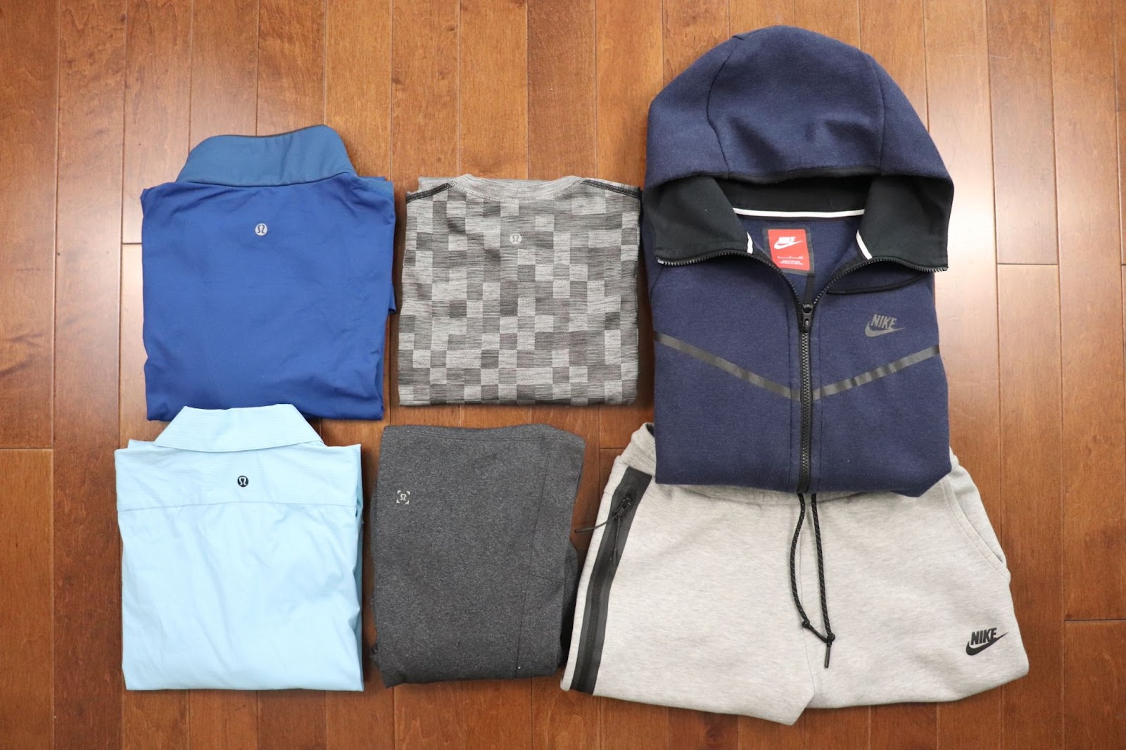 sportswear from Lululemon, Nike and Adidas