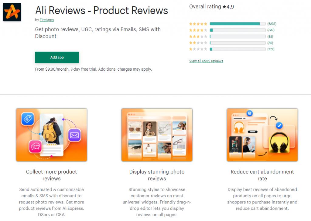 Ali Reviews Review app