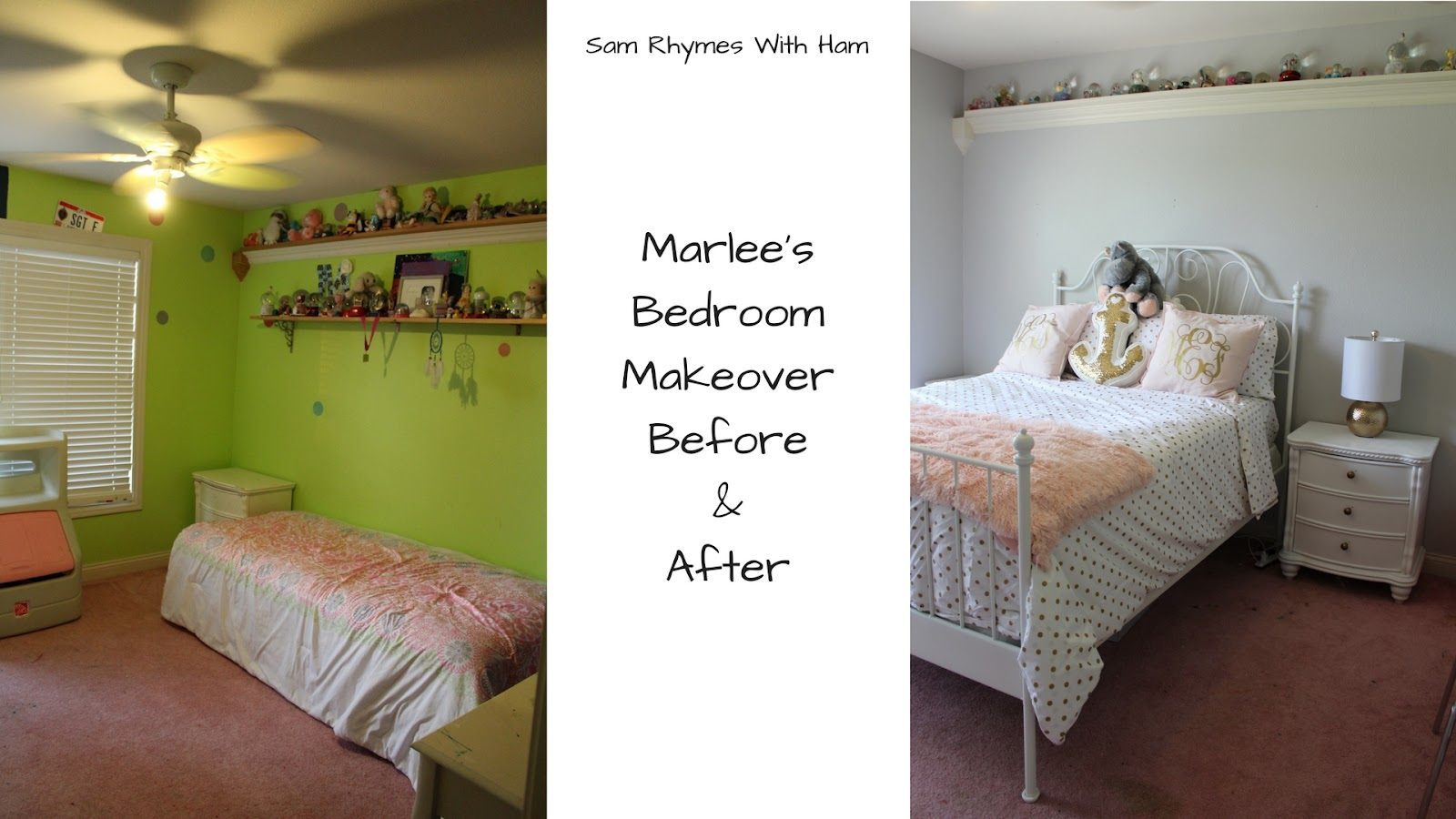 Marlee's Monogrammed Bedroom Makeover