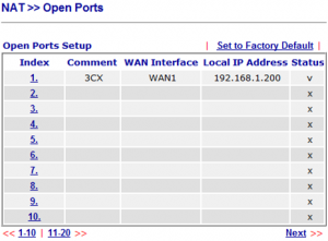 "The <b>""Open Ports""</b> summary page."