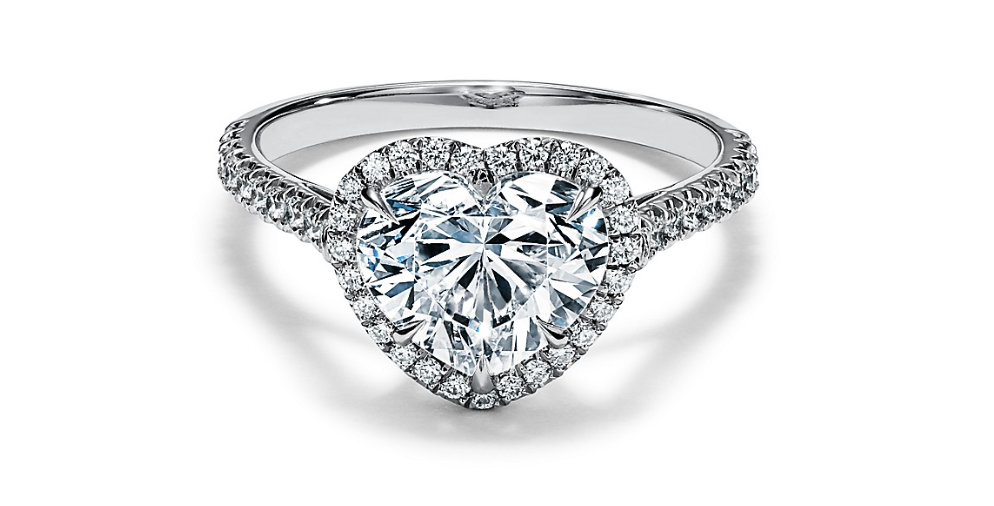 heart shaped halo diamond ring