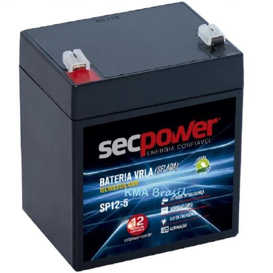 BATERIA SELADA 12V 5Ah SEC POWER SP12-5 * NOBREAK CERCA AUTOMAÇÃO BRINQUEDOS *
