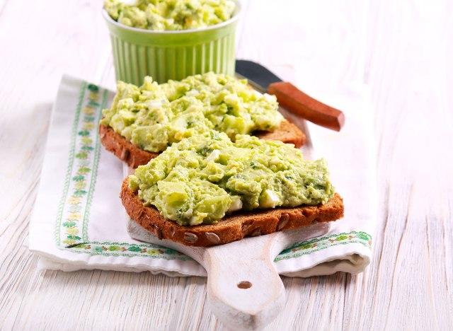 avocado egg salad toast