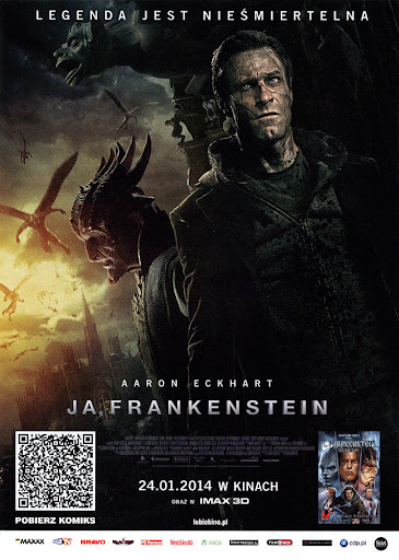 Przód ulotki filmu 'Ja, Frankenstein'
