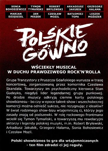 Tył ulotki filmu 'Polskie Gówno'