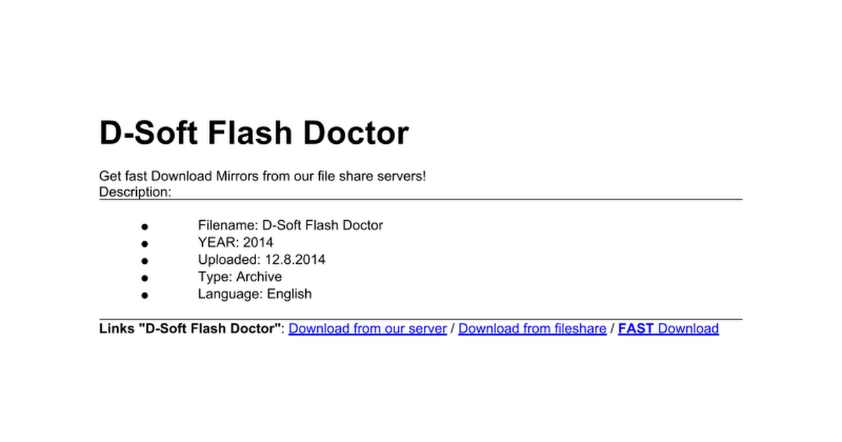 D-Soft Flash Doctor 9948 - Google Docs