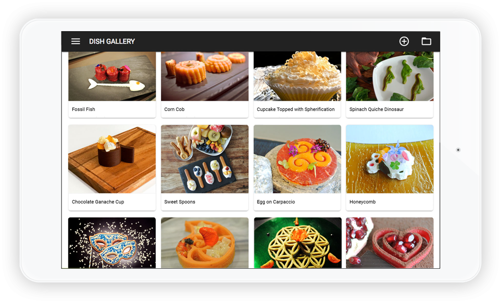 Foodini Creator to print 3D food