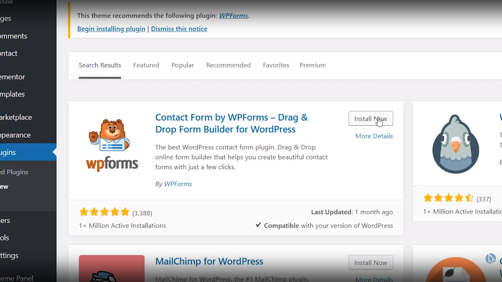 create wordpress contact form free