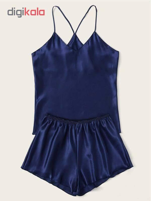 لباس خواب زنانه کد T-870 رنگ آبی تیره