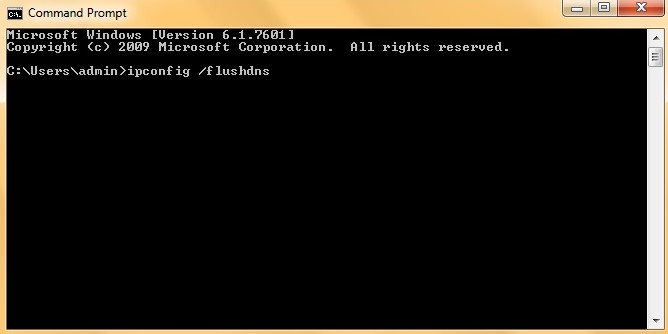 The Command Prompt window in Windows 10