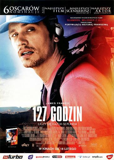 Przód ulotki filmu '127 Godzin'