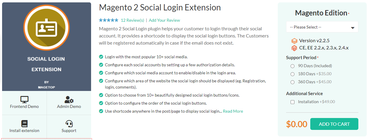 Magento 2 Social Login Extension by Magetop