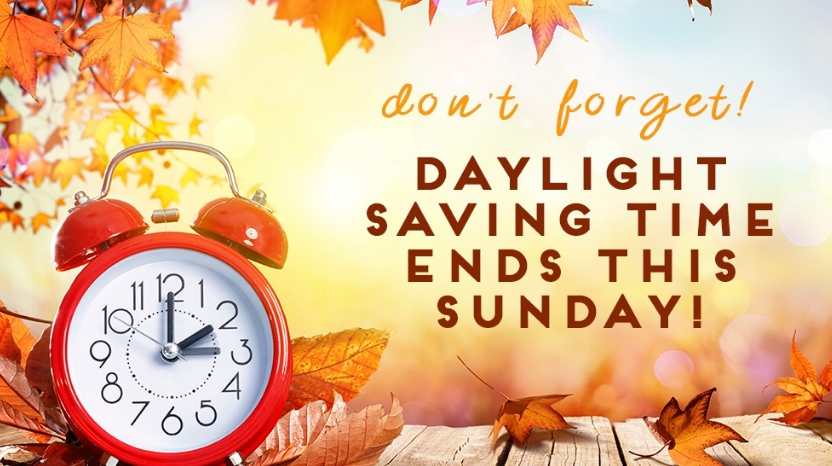 Image result for daylight saving time ends sunday