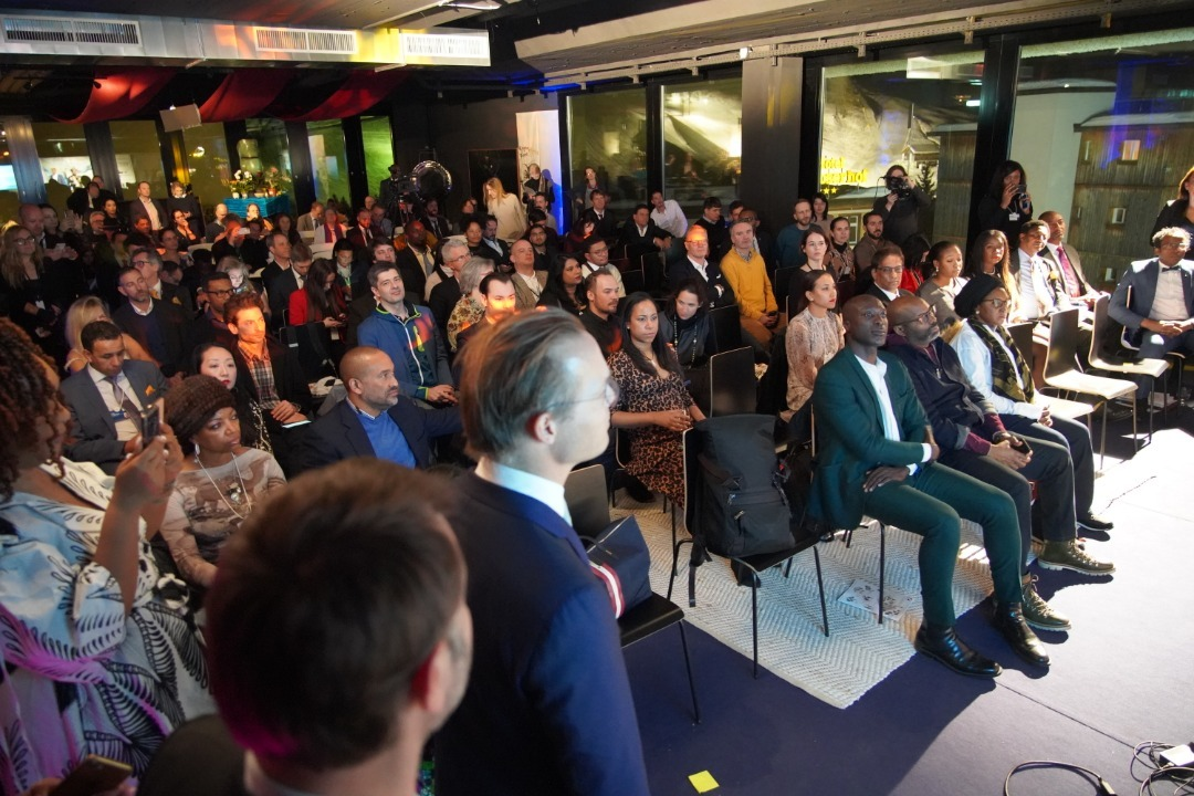 The launch of the Ubuntu Tribe project at an official side event called Davos Africa Night during the World Economic Forum 2020 in Davos