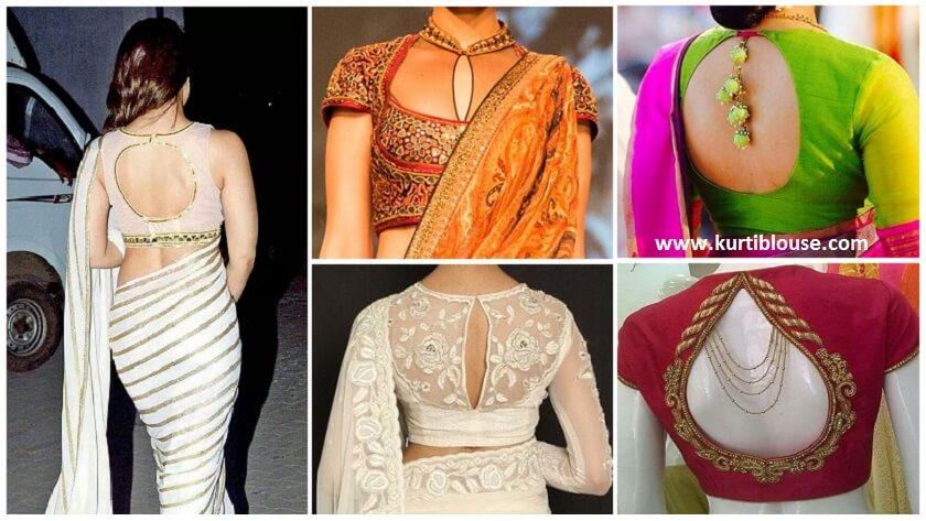 Key-hole neck blouse design