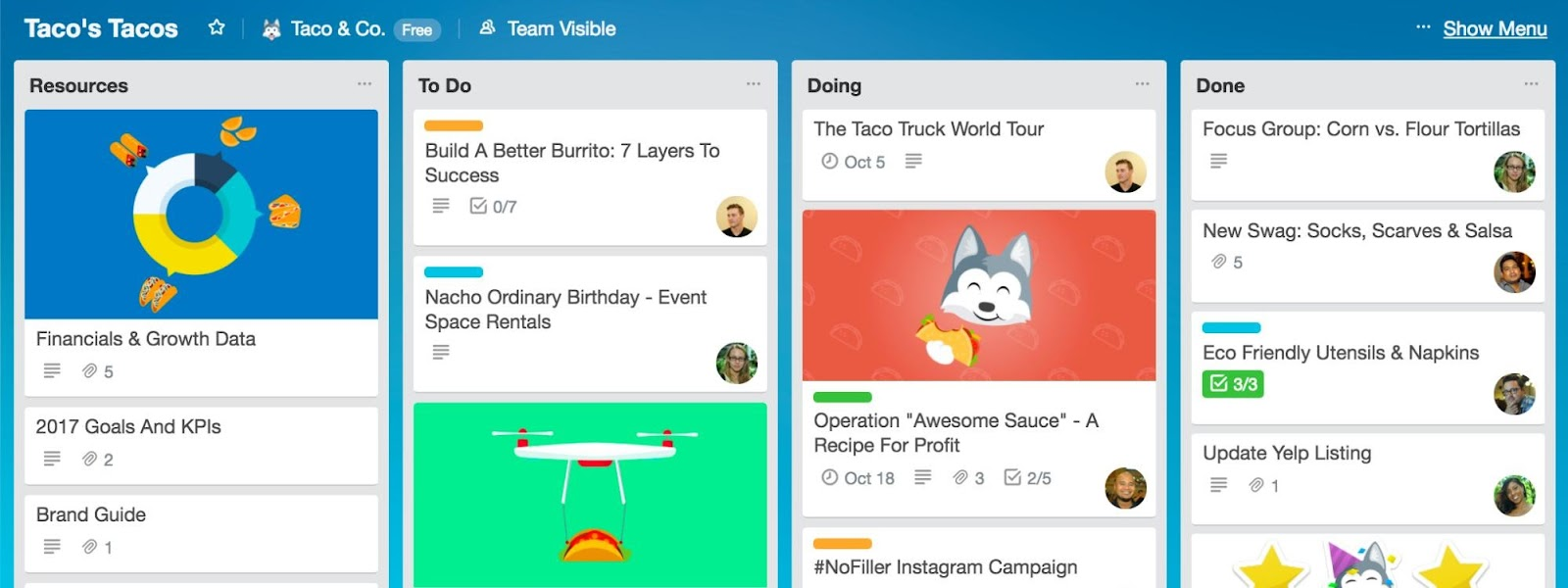 best marketing tools: trello