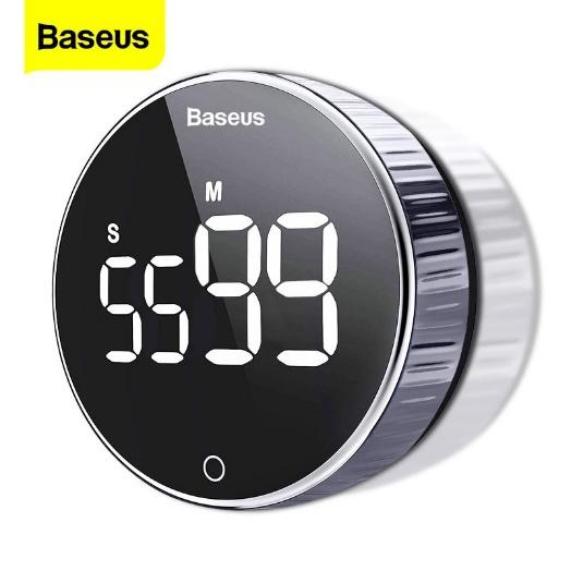 Baseus LED Digital Kitchen Timer Rotation Countdown Magnetic Electronic  Cooking Countdown Stopwatch Alarm Clock for Cooking Shower Study Sports  Lunch Break | Shopee Thailand