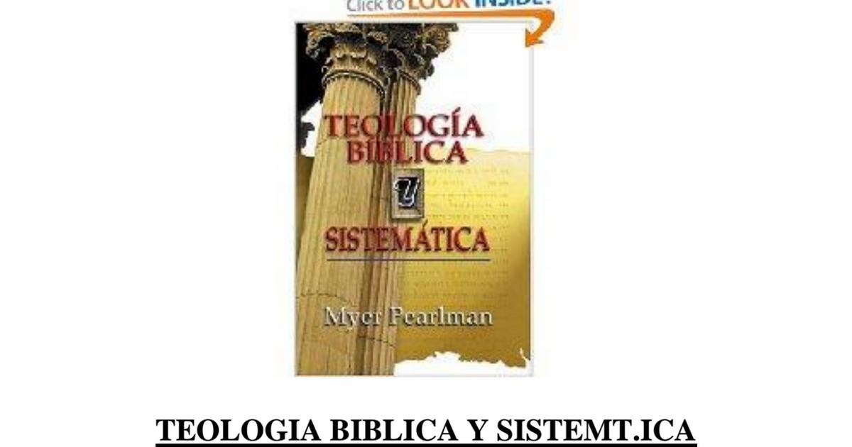 teologia biblica y sistematica