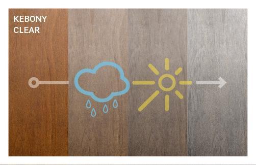 Neufs, les deux variétés ont une profonde couleur marron qui, après exposition au soleil et à la pluie, va évoluer vers une magnifique patine argentée.
