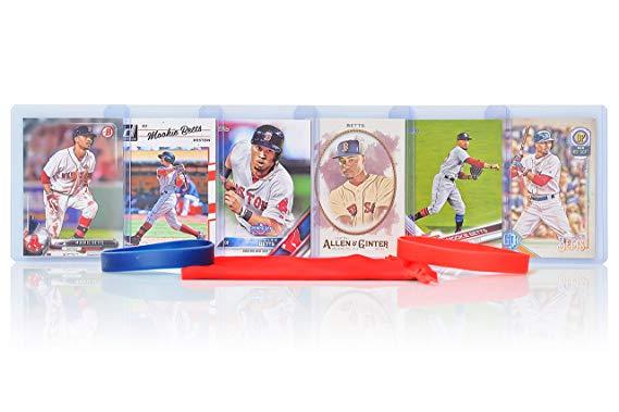 Mookie Betts (6) Assorted Baseball Cards Bundle - Boston Red Sox Trading Cards