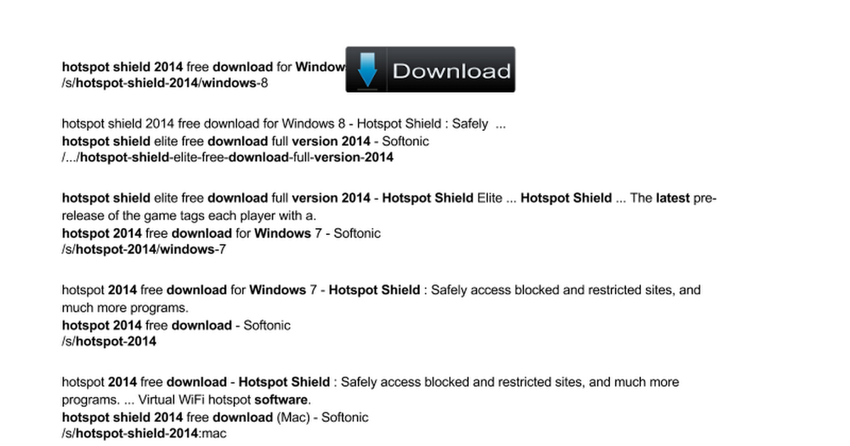 hotspot shield for windows 7 free download latest version