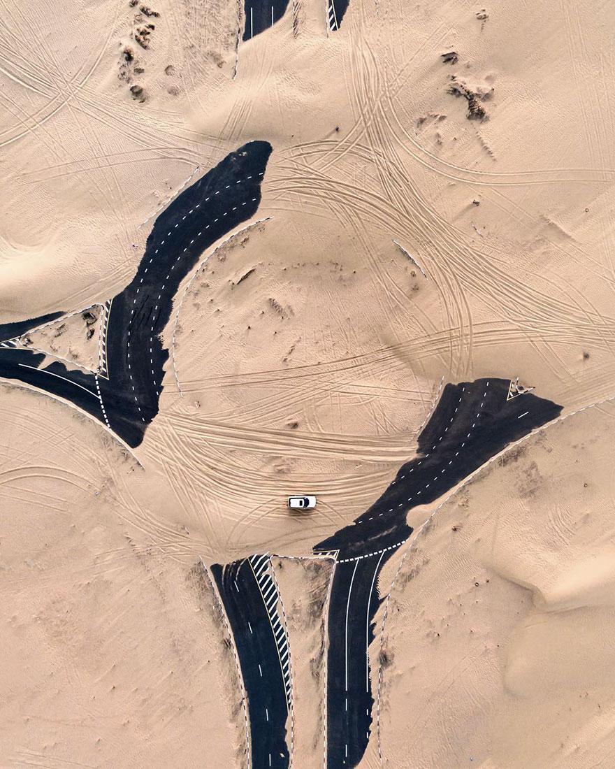 الصحاري تستولي على دبي وأبو ظبي أما الصور فهي مذهلة