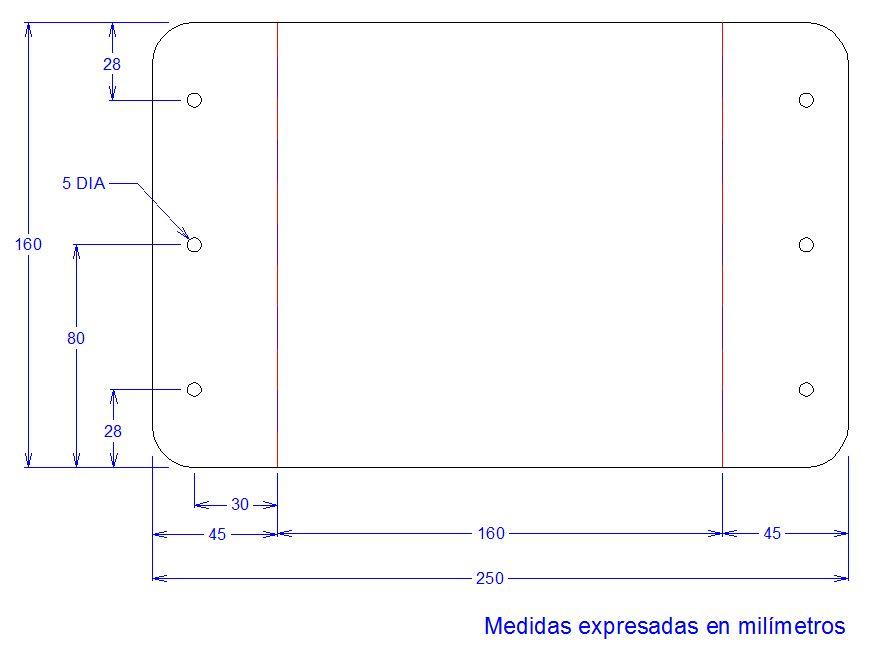 Esquema de la figura con sus respectivas dimensiones.