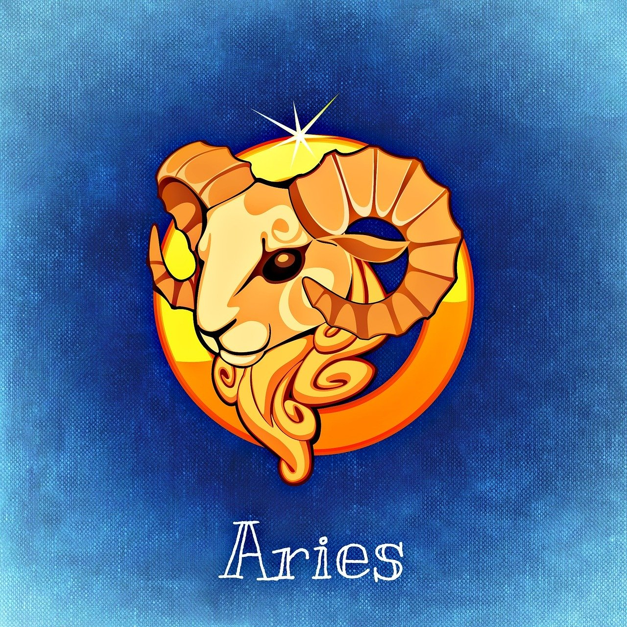 The symbol for the zodiac sign of Aries is shown illustrated in this file photo.