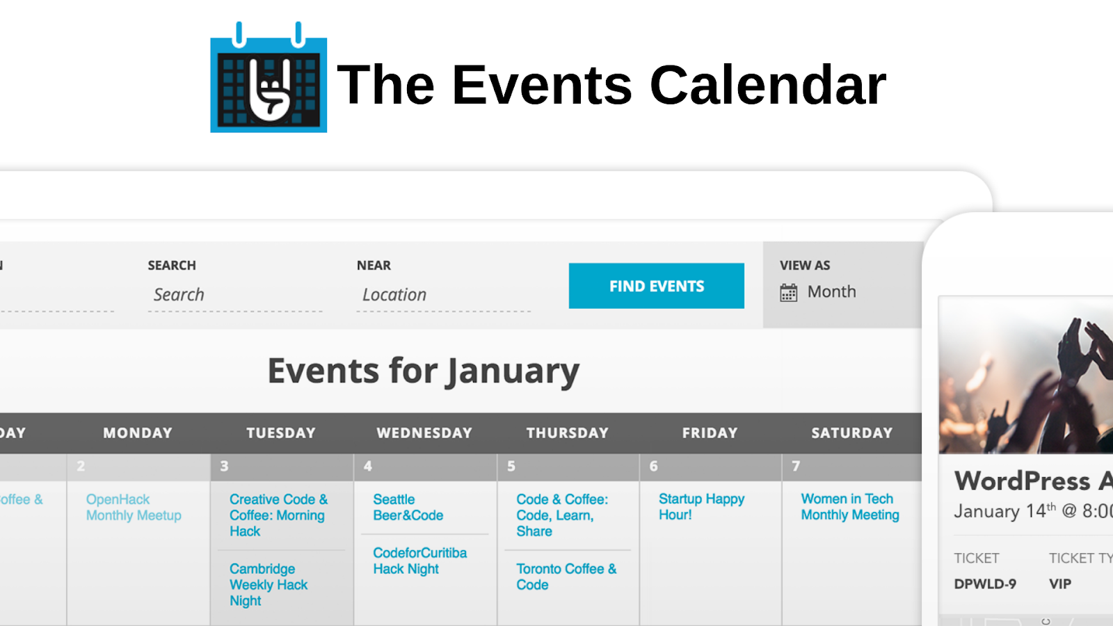 WordPress events plugins