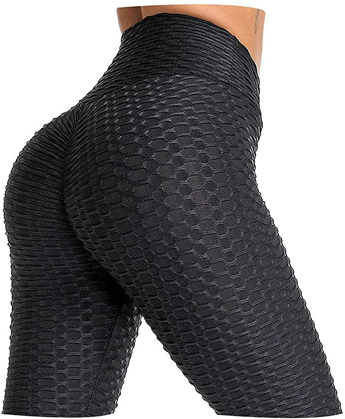 AIMILIA Butt Lifting Anti Cellulite Sexy Leggings for Women High Waisted Yoga Pants Workout Tummy Control Sport Tights