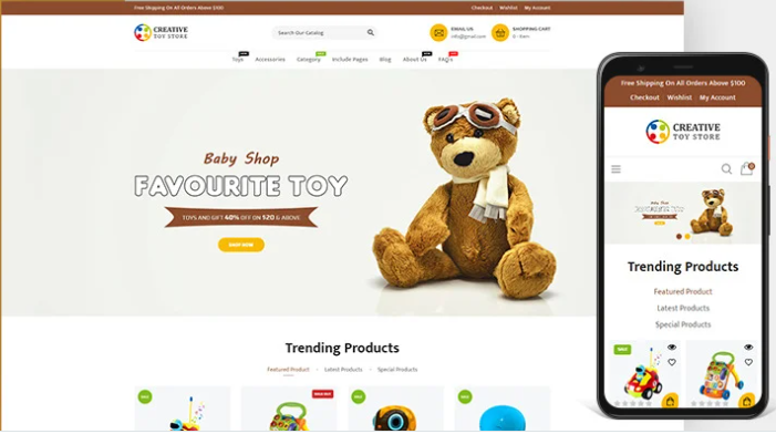 best - selling Toys store shopify theme
