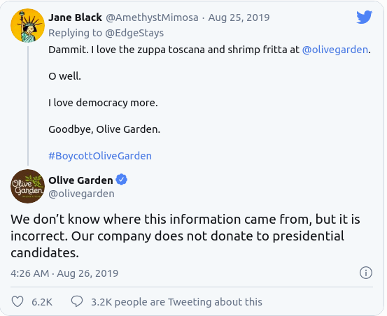 Olive Garden Media Monitoring
